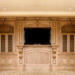 Custom Wood Entertainment Center Rancho Santa Fe CA